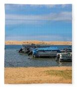 Boats On Silver Lake Michigan Fleece Blanket