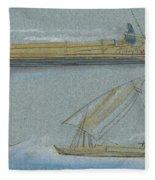 Boats On The Nile Fleece Blanket
