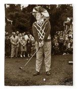 Bob Hope At Pro-am At Pebble Beach California 1953 Fleece Blanket