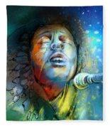 Bob Marley 10 Fleece Blanket