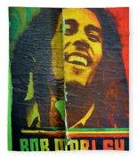 Bob Marley Door At Pickles Usvi Fleece Blanket