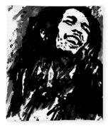 Bob Marley Silhouette   Fleece Blanket
