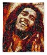 Bob Marley Vegged Out Fleece Blanket