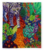 Bobcat Kachina  Fleece Blanket