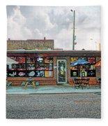 Bobs Downtown Diner Front Door Fleece Blanket