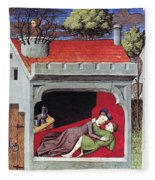 Boccaccio: Lovers, C1430 Fleece Blanket