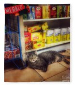 Bodega Cat - At Home In New York Fleece Blanket