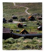 Bodie Ghost Town Panorama Fleece Blanket