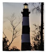 Bodie Island Trees Fleece Blanket