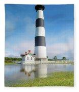 Bodie Lighthouse Fleece Blanket