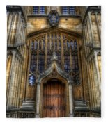 Bodleian Library Door - Oxford Fleece Blanket