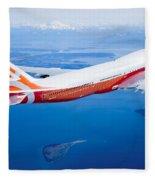 Boeing 747-8 Fleece Blanket