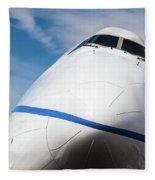 Boeing 747 Jumbo 1 Fleece Blanket