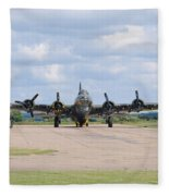 Boeing B-17 Flying Fortress Sally B Fleece Blanket