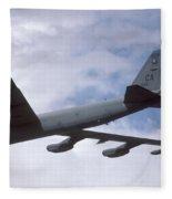 Boeing B-52g Stratofortress 59-2565 93rd Bomb Wing Castle Afb September 17 1992 Fleece Blanket