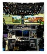 Boeing C-17 Globemaster IIi Cockpit Fleece Blanket