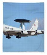 Boeing E-3b 71-1407 Sentry Phoenix Sky Harbor January 9 2015 Fleece Blanket