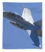 Boeing-mcdonnell-douglas Fa-18f Super Hornet 446 Of Vfa-125 Rough Raiders  Fleece Blanket