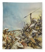 Boers Fighting Natives Fleece Blanket