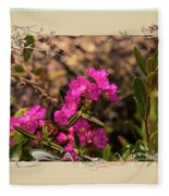 Bog Laurel Flowers Fleece Blanket