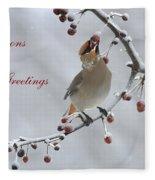 Bohemian Seasons Greetings Fleece Blanket
