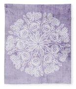 Boho Floral Mandala 1- Art By Linda Woods Fleece Blanket