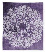 Boho Floral Mandala 2- Art By Linda Woods Fleece Blanket