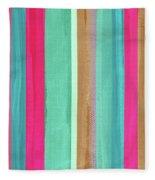 Boho Stripe- Art By Linda Woods Fleece Blanket