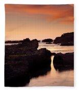 Boiler Bay Sunset Fleece Blanket