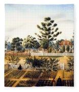 Bois De Fleche Plantation Louisiana 1861 Fleece Blanket