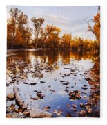 Boise River Autumn Glory Fleece Blanket