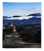 Boise Skyline In Early Morning Hours Fleece Blanket
