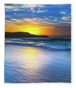 Bold And Blue Sunrise Seascape Fleece Blanket