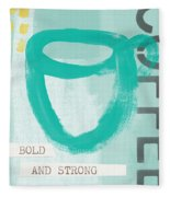 Bold And Strong In Blue- Art By Linda Woods Fleece Blanket