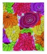 Bold Flowers Fleece Blanket
