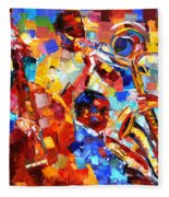 Bold Jazz Quartet Fleece Blanket