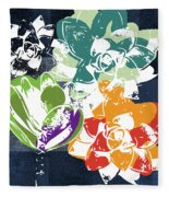 Bold Succulents 1- Art By Linda Woods Fleece Blanket