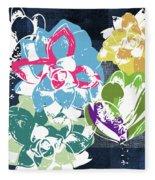 Bold Succulents 2- Art By Linda Woods Fleece Blanket