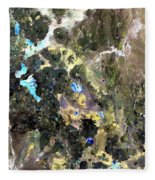 Bolivian Andes From Space Fleece Blanket