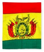 Bolivian Flag Fleece Blanket