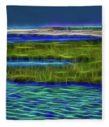 Bolsa Chica Wetlands I Abstract 1 Fleece Blanket
