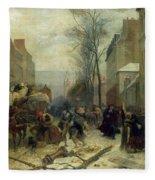 Bombardment Of Paris In 1871 Fleece Blanket