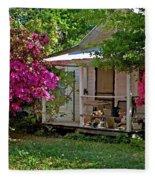 Bon Secour Pink Porch Fleece Blanket