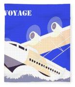 Bon Voyage 1 Fleece Blanket