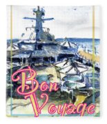 Bon Voyage Cruise Fleece Blanket