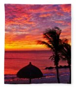 Bonaire Sunset 1 Fleece Blanket