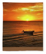 Bonaire Sunset 4 Fleece Blanket