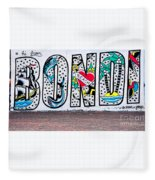 Bondi Beach Graffiti - Photograph By Kaye Menner Fleece Blanket
