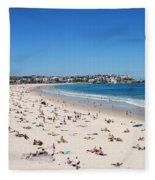 Bondi Beach In Sydney Australia Fleece Blanket