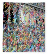 Bonfim Wish Ribbons Fleece Blanket